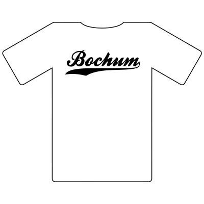 Ruhrgebietshirt Bochum weiß