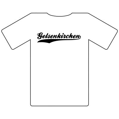 Ruhrgebietshirt Gelsenkirchen weiß