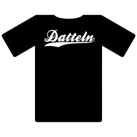 Ruhrgebietshirt Datteln schwarz