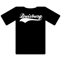 Ruhrgebietshirt Duisburg schwarz