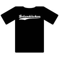 Ruhrgebietshirt Gelsenkirchen schwarz