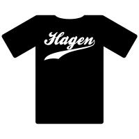Ruhrgebietshirt Hagen schwarz
